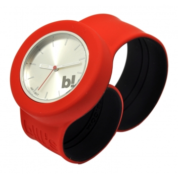 - 3700982214279 - Bill's watch - Montre B! Bracelet rouge & cadran silver - 3