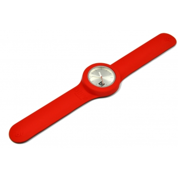 - 3700982214279 - Bill's watch - Montre B! Bracelet rouge & cadran silver