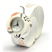 Montre Mini Bracelet Flamingo & cadran blanc
