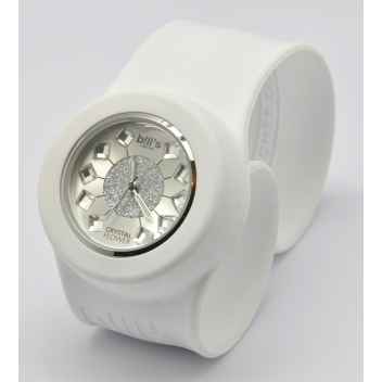 - 3700982214903 - Bill's watches - Montre Classic Bracelet Blanc & cadran Crystal Flower - 3