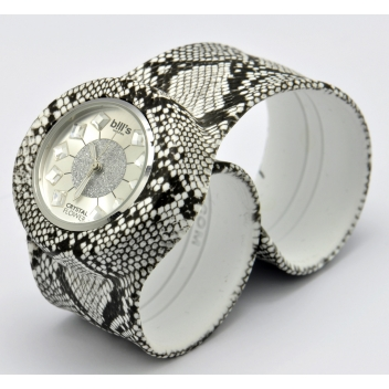 - 3700982215085 - Bill's watch - Montre Classic Bracelet Python & cadran Crystal Flower - 3