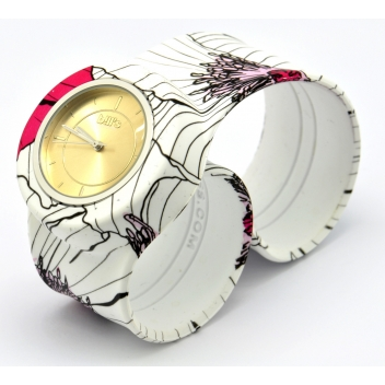 - 3700982215269 - Bill's watch - Montre Classic Bracelet Coquelicot & cadran Gold Sun. - 3