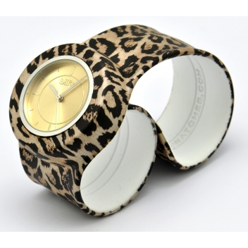 - 3700982215290 - Bill's watch - Montre Classic Bracelet Leopard & cadran Gold Sun. - 3