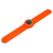 Montre Classic Bracelet Orange & cadran Noir