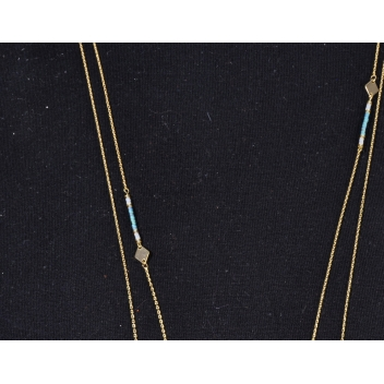 - 3700982223851 - Collection CMLPB - Collier double long et fin Turquoise - 2