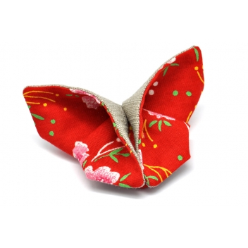 - 3700982216891 - The cocotte - Broche Origami Papillon en tissu Rouge - France - 4