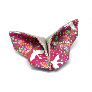 - 3700982216914 - The cocotte - Broche Origami Papillon en tissu Rose - France - 4