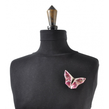 - 3700982216914 - The cocotte - Broche Origami Papillon en tissu Rose - France