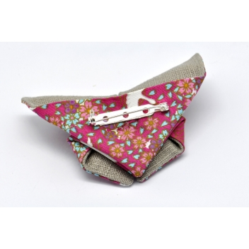 - 3700982216914 - The cocotte - Broche Origami Papillon en tissu Rose - France - 2