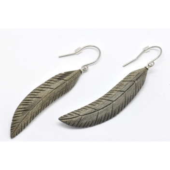 2732a - 3700982206588 - Culture Mix - Boucles d'oreille plume - 2