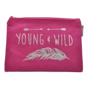 Pochette rose Young & wild