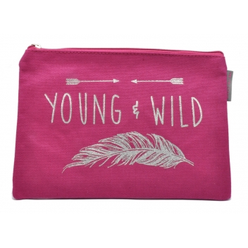 60390 plume - 3700982223462 - Collection CMLPB - Pochette rose Young & wild - 3