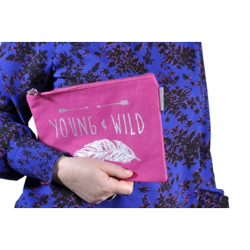 60390 plume - 3700982223462 - Collection CMLPB - Pochette rose Young & wild - 2