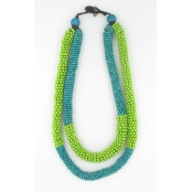 Collier anis et turquoise