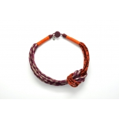 Collier noeud Violet et orange