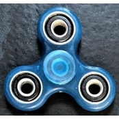 hand Spinner Bleu clair en ABS Phosphorescent