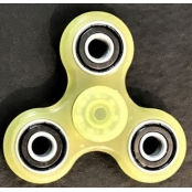 hand Spinner jaune en ABS Phosphorescent