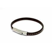 Bracelet Declic Single Piqué Chocolat S