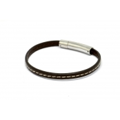 Bracelet Declic Single Piqué Chocolat M