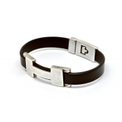 Bracelet Chic H Single Chocolat M