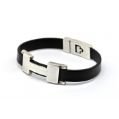 Bracelet Chic H Single Noir L