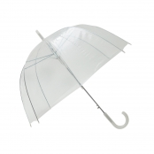 Parapluie transparent simple Finition blanc
