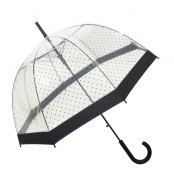 Parapluie cloche transparent à pois Lady