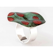 Bague Sira Red moon (2cm)