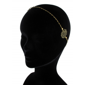 HB17SS16 - 3700982204560 - Les Dissonances - Rainbow : headband perles noires Doré à l'or fin - France