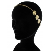 Sunshine : headband élastic Rosaces Doré à l'or fin