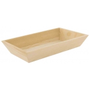 Plateau en bois bords inclinés 22 x 13 x 4 cm