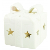 Lumignon en biscuit de faience Cadeau Led multicolore