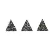Motif Thermocollant transfert Customisation textile Triangle Noir 1 cm
