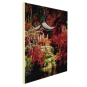Tableau Strass Diamant Crystal Art Temple Japonais 40x50cm