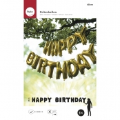 Ballons en aluminium HAPPY BIRTHDAY Or 40cm/lettre