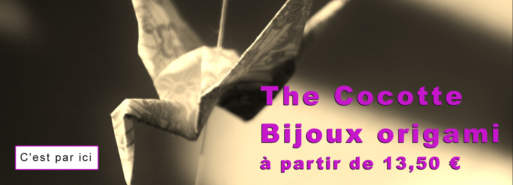 Bijou origami the cocotte