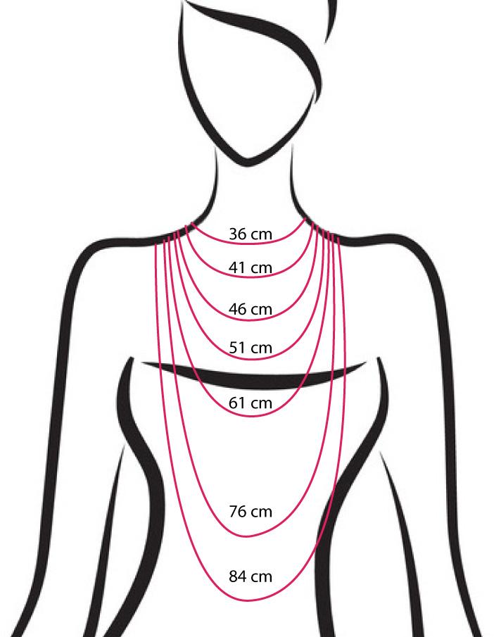 buste pour visualiser longueur collier