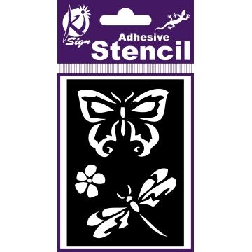 KSBS006 - 3760131941159 - Ki-Sign - Pochoir adhésif Papillon libellule 7x10 cm